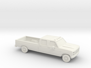 1/87 1980-86 Ford Crew Cab F350 in White Strong & Flexible