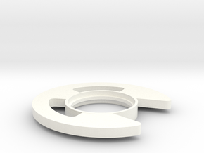 Retaining Clip Tsuba in White Strong & Flexible Polished