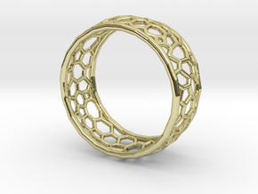 Cellular structure ring in 18k Gold Plated