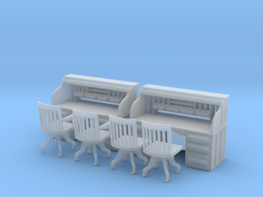 2 Rolltop Desks O Scale in Frosted Ultra Detail