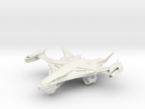 Casval Class HvyGunBattleCruiser in White Strong & Flexible