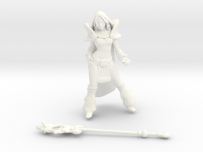 Crystal Maiden DOTA2 in White Strong & Flexible Polished
