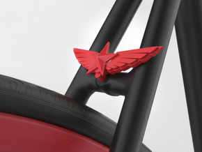 Wings & Star in Red Strong & Flexible Polished
