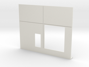 40x45 Roll Door Wall; Ramp Version in White Strong & Flexible