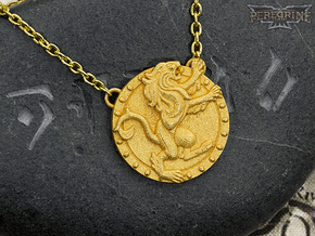 Pendant - Daggerfall Covenant in Polished Gold Steel