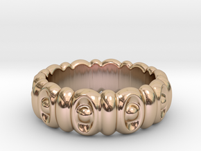 Eyes Ring 16 - Italian Size 16 in 14k Rose Gold Plated