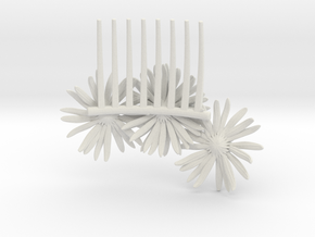 Daisy Comb in White Strong & Flexible
