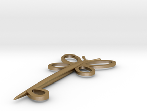 Key Of Kindness in Polished Gold Steel