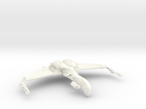 Romulan Bird Of War ScoutCruiser in White Strong & Flexible Polished