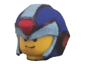 Custom Megaman X Inspired Lego in White Strong & Flexible