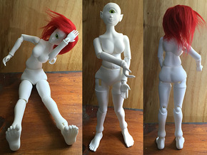 Cyclops BJD 1:6 Fashion doll scale in White Strong & Flexible Polished