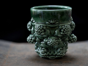 Mandelbulb Coffee Mug in Gloss Oribe Green Porcelain