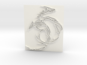 Dragon5 in White Strong & Flexible Polished