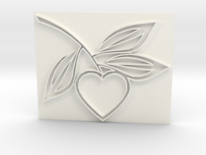 Heart1a in White Strong & Flexible Polished