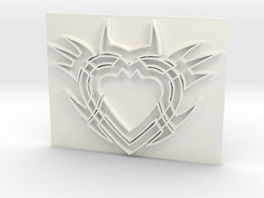Heart2a in White Strong & Flexible Polished