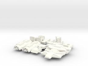 Flame-o Parts (Whole Kit without Gun)  in White Strong & Flexible Polished