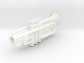 Trumpet in White Strong & Flexible Polished