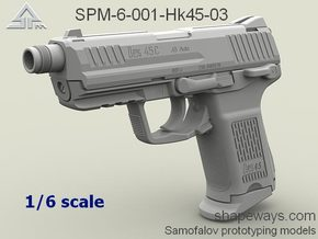 1/6 SPM-6-001-Hk45-03 H&K 45C in Frosted Extreme Detail