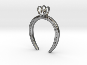 Horseshoe Necklace Pendant in Premium Silver