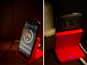 Nexus 4 Qi Charging Dock in Red Strong & Flexible Polished