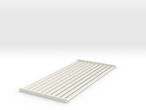 4mm Scale Ridge Tiles 'Cocks Comb Crested Ridge' in White Strong & Flexible
