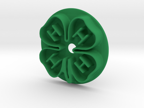 4H Clover Cookie Cutter Small 60mm in Green Strong & Flexible Polished