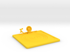 "Lala ""Relaxing in Swimming Pool"" - DeskToys in Yellow Strong & Flexible Polished"