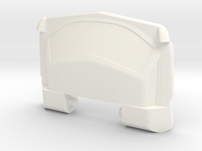 GTR Faux Roof Chest Plate in White Strong & Flexible Polished