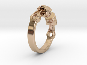 Ring Biker  in 14k Rose Gold Plated