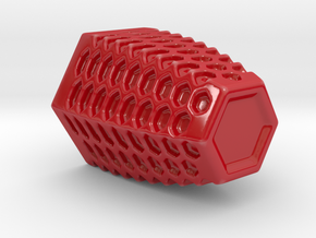 Honeycomb Mug in Gloss Red Porcelain