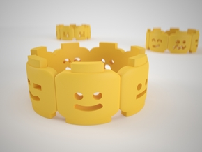 Yellow Brick Head Mood ring 6 in Yellow Strong & Flexible Polished