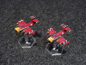 6mm Greenskin Fighter Bombers (x4) in White Strong & Flexible