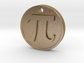 PI Pendant in Polished Gold Steel
