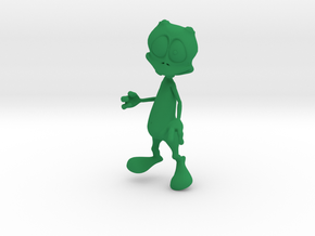 Toon Alien in Green Strong & Flexible Polished