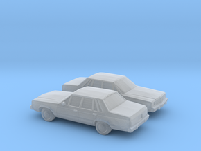 1/160 2X 1978-83 Ford Fairmont Sedan in Frosted Ultra Detail