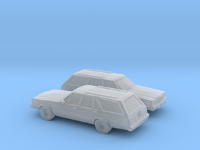 1/160 2X 1978-83 Ford Fairmont Station Wagon in Frosted Ultra Detail