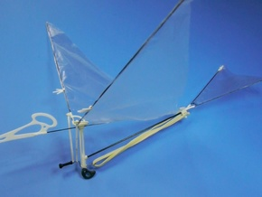 Pteranodon ornithopter in White Strong & Flexible