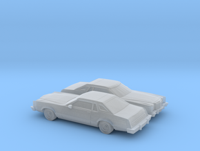 1/160 2X 1977-79 Ford LTD II Brougham Coupe in Frosted Ultra Detail