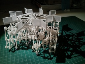 Vertical Axis Turbine - Strandbeest Addon (ver1) in White Strong & Flexible