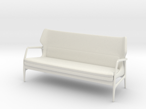 1:24 Mid-Century Lounge Sofa in White Strong & Flexible