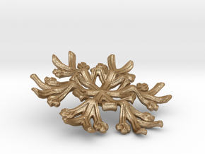 Snowflake Candle Stand - d=70mm in Matte Gold Steel