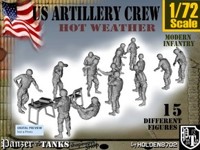 1-72 US Artillery Crew Hot Weather in Frosted Ultra Detail