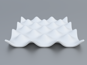 Mathematical Function 7 in White Strong & Flexible Polished