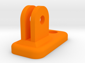 Cree light - Gopro mount adapter in Orange Strong & Flexible Polished