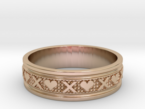 Size 12 Xoxo Ring B in 14k Rose Gold Plated