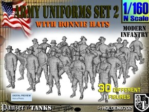 1-160 Army Modern Uniforms Set2 in Frosted Ultra Detail