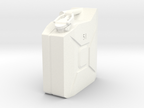 5L Jerry Can 1/10 scale in White Strong & Flexible Polished