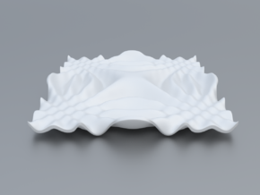 Mathematical Function 9 in White Strong & Flexible Polished