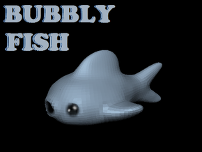 Bubbly Fish in White Strong & Flexible Polished
