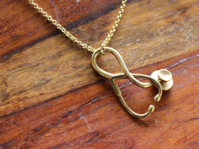Stethoscope Pendant in 18k Gold Plated